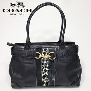 Coach Hamptons Signature Carryall Satchel Bag CC